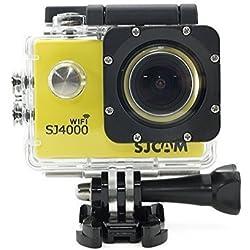 SJCAM WIFI SJ4000 Action Sport Cam Fotocamera Impermeabile Full HD 1080p 720p Video Foto Bici da Casco Sport d'acqua Giallo