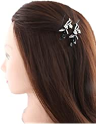 Anuradha Art White Colour Styled With White Colour Stone Hair Accessories Hair Cilp For Women/Girls