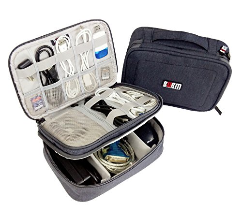 Travel Gear Electronics Accessories Organizer Storage Bag (Gray) (Electronic Organizer Bag compare prices)