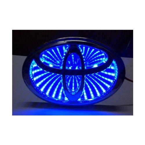 Car 3D Led Logo Lights Emblem Badge Sticker Lamp For Toyota Camry Blue