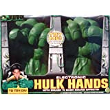 Electronic Soft Foam HULK HANDS with Smash 'N Bash Sound Effects (2003 ToyBiz)