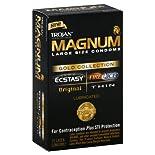 Trojan Magnum Condoms, Premium Latex, Lubricated, Gold Collection, Large Size, 10 condoms