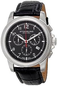 Stuhrling Original Men's 717.02 Octane Targa Courant Analog Display Swiss Quartz Black Watch