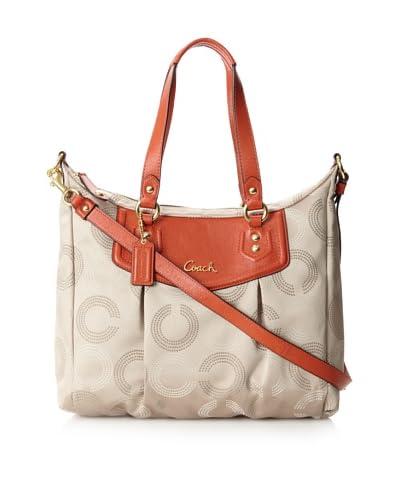 Coach Women's Shoulder Bag, Khaki/Vermillion