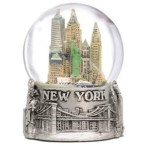 Amazon Com New York City Silver Lined Snow Globe 65mm