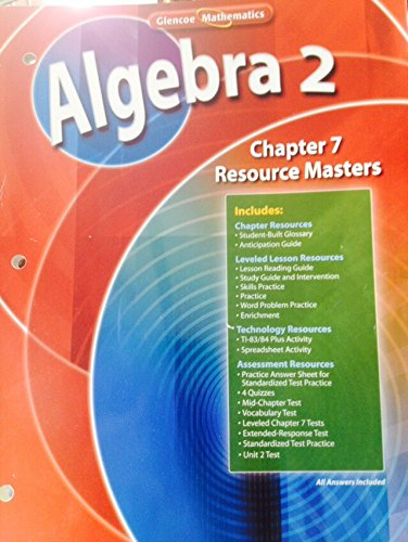 Glencoe Pre-Algebra Chapter 7 Resource Masters - Import It All