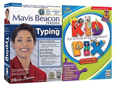 Mavis Beacon Typing 17 / Kid Pix Deluxe 4 Bundle