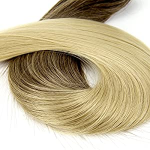 EXTENSIONS A CLIPS 6 Meches Bandes CHEVEUX 22' 55.8CM RAJOUTS De Brun A Blond Clair No.385
