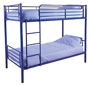 Florida Metal Bunk Bed 2 x 3ft Singles Blue Powder Coated Frame