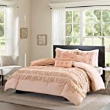 Madison Park ECO Weave_Go Green Marley Comforter Set, Full/Queen, Coral