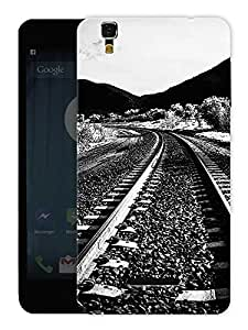 "Humor Gang Railway Track Monochrome Printed Designer Mobile Back Cover For ""Yu Yureka Plus"" (3D, Matte, Premium Quality Snap On Case)"