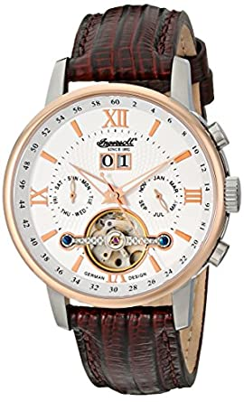 """Ingersoll Men's IN6900RWH """"Grand Canyon IV"""" Stainless Steel Automatic Watch with Brown Leather Band"""