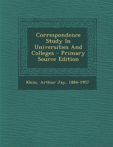 Correspondence Study In Universities And Colleges
