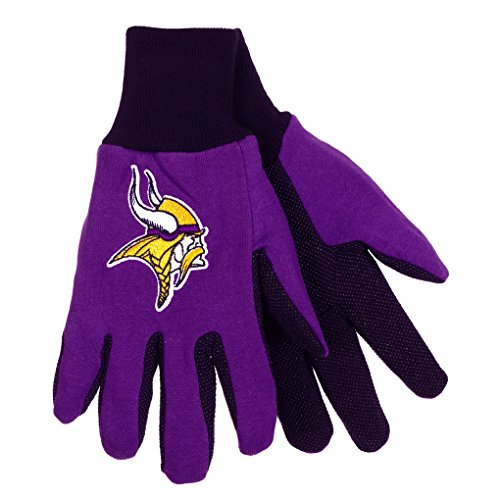 NFL Football Multi Color Team Logo Sport Gloves (Minnesota Vikings)