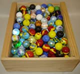 "Mega Marbles SET OF 12 ASSORTED 1"" SHOOTER MARBLES"