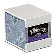 "TrippNT 50760 Plastic Wall-Mountable Cube Kleenex Box Holder, 5"" Width x 5"" Height x 5"" Depth"