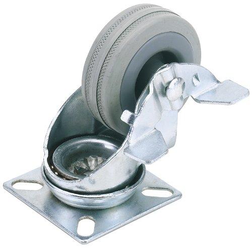 draper-65469-50-kg-50-mm-diameter-swl-swivel-plate-fixing-rubber-castor-with-brake