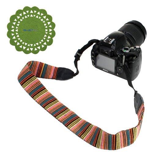Birugear Soft Multi-Color Classic Camera Shoulder/ Neck Strap Belt For Canon Sx50 Hs, Sx500 Is, Sl1 T5I T4I T2I; Nikon Df D5300 D3300 D7100 D600 D610 D5200 D3200 D5100, Coolpix P600 P530 P520 L830 L820 L810 L310; Ge Power Pro X500 X550 And More Dslr Camer