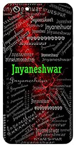 Jnyaneshwar (The God Of Wisdom) Name & Sign Printed All over customize & Personalized!! Protective back cover for your Smart Phone : Moto G-4
