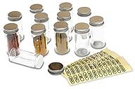 DecoBros 12 Spice Bottles w/ label Set