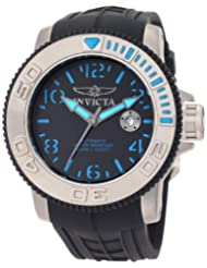 Invicta Mens 1079 Invicta II Automatic Black Dial Rubber Watch