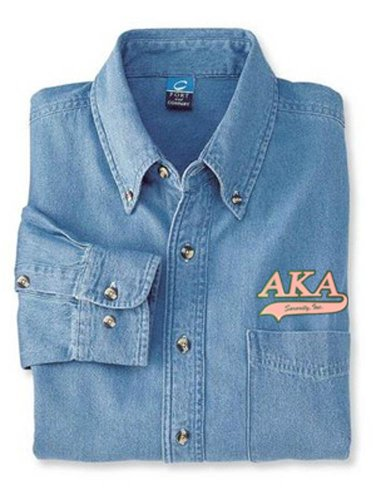 Alpha Kappa Alpha Denim Shirt - Tail