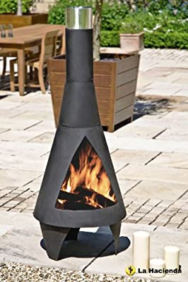 160cm Extra Large Black Colorado Chiminea Chimenea Patio Heater