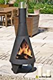 160cm Extra Large Black Colorado Chiminea Chimenea