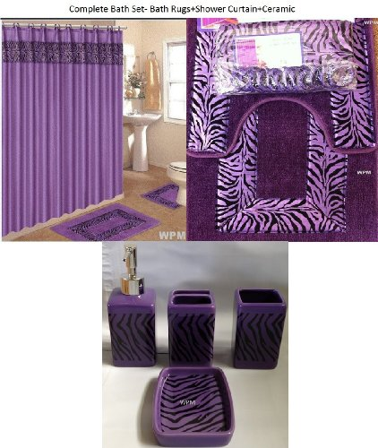 Purple Zebra Bedding front-211781