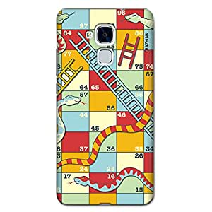 CrazyInk Premium 3D Back Cover for HUAWEI HONOR 5C - SNAKE & LADDER-1