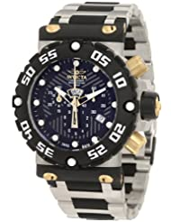 Invicta Men's 0403BBB Subaqua Nitro Chronograph Black Dial Stainless Steel Watch