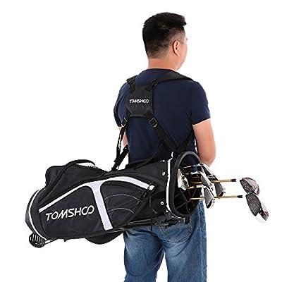 TOMSHOO Lightweight Golf Stand Bag Cart Bag 14 Way Full Length Individual Divider Top Golf Bag Golf Club Organizer Bag