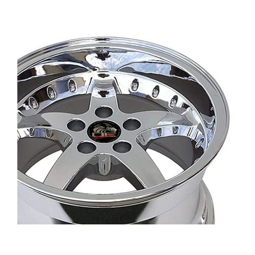 Detroit Wheels Series 815   Replica Ford Mustang Cobra Chrome Finish (18x9/5x114.3mm)