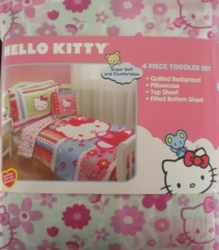 hello kitty 4pc toddler bedding set at time for babies