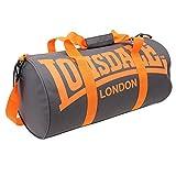 LONSDALE London Barrel Bag Holdall Gym Sports Charcoal/Orange
