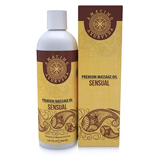 Amazing Ayurveda Premium Massage Oil Sensual 6.8 fl.oz