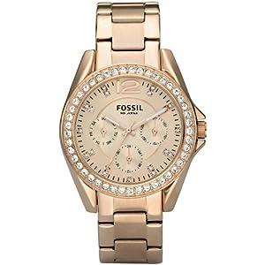 Fossil Quartz Rosegold Gem Dial Rosegold Band - Women's Watch ES2811