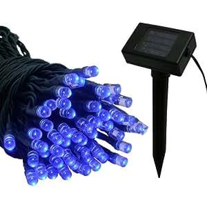 flipo solar 50 led string light blue