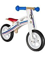 BIKESTAR® 25.4cm (10 pouces) Bois Vélo Draisienne pour enfants ★ Couleur Blanc