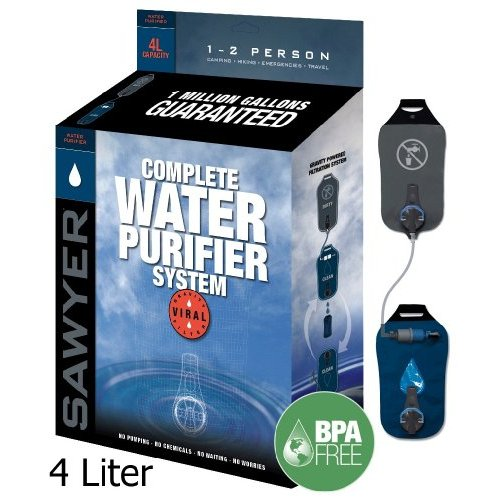 Sawyer SP194 Complete 4 Liter Water Purifier System with .02 Micron Removal Rate