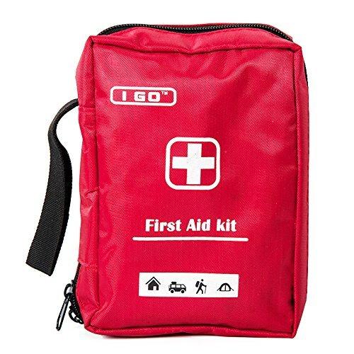I GO Aid Kit Ultra-Light & anzitutto in piccolo, nylon resistente Case - Ideale per l'auto, cucina, scuola, campeggio, escursioni, viaggi, Ufficio, Sport, Caccia e casa, di emergenza e di sopravvivenza