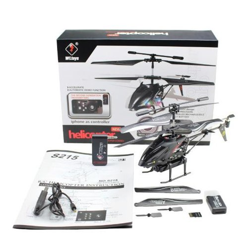 WL TOYS iPhone/ iPad/ iPod/ iTouch 3.5-Channel RC Helicopter with Camera 512M Built-in Memory Card