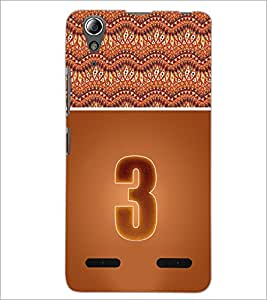 PrintDhaba Numerology Number 3 D-3635 Back Case Cover for LENOVO A6000 PLUS (Multi-Coloured)