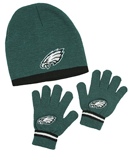 philadelphia-eagles-nfl-little-boys-knit-hat-and-gloves-set-green-kids-4-7