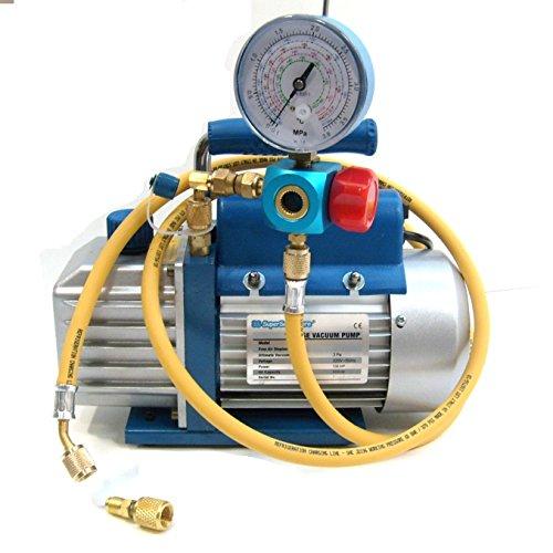 Kit carica e vuoto - pompa 70 Lt/min manometro frusta - adatto a carica R410A R407C R22 R134A