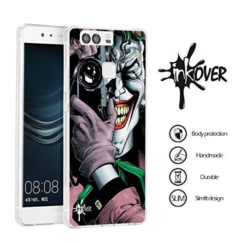 Custodia Cover Guscio Protezione Trasparente Slim Fit Tpu Flessibile INKOVER Joker Bat Man per HUAWEI P8 LITE