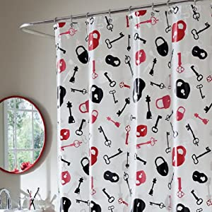 Lock and Key PEVA Shower Curtain