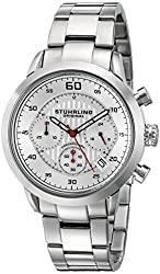 Stuhrling Original Men's 816.01 Monaco Chronograph Multifunction Stainless Steel Date Watch