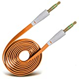 Fone-Case (Orange) High Quality 3.5mm Jack To Jack Flat Cable AUX Auxiliary Audio Cable Lead For Acer Liquid mt