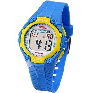 Time100 Kids' Fancy LCD Multifunction Light Blue Strap Digital Watches#W40010L.03A